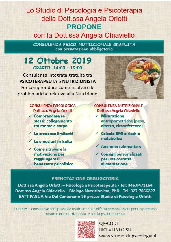 PSICOTERAPEUTA e NUTRIZIONISTA Per comprendere come risolvere le problematiche relative alla Nutrizione